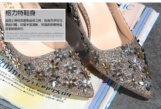 3a833efd196e Silver Titanium. Size. 35 36 37 38 39 36 38 39 37 35 Women Spring autumn  Pumps Slip On PU High Rubber Yes PU Pointed Toe Thin Heel Pu Flower Yes